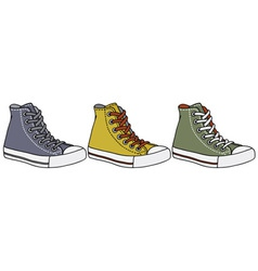 Color sneakers vector
