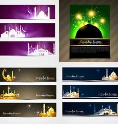 Attractive set of brochure and banner of eid vector