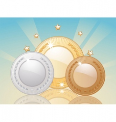 Winner medals medals vector