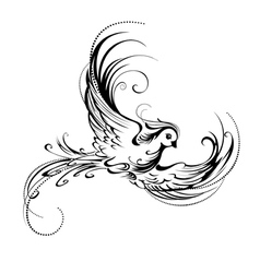 Stylized bird vector