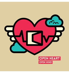 Open heart and mind freedom concept vector
