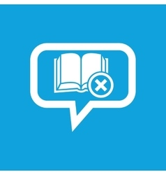 Remove book message icon vector