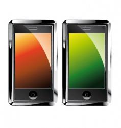 Touch screen smartphones vector