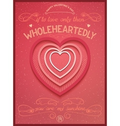 Phrase poster for valentines day vector