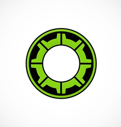 Gear cog engine abstract logo vector