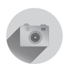 Retro camera icon with shadows flat design vector
