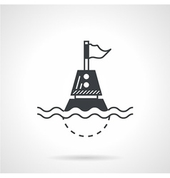 Black icon for floating buoy vector
