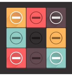 Beautiful pure stop sign icon set simple flat vector