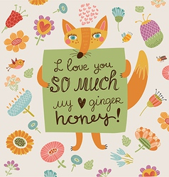 Loving foxy vector