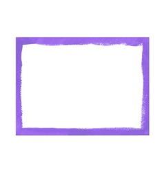 Lilac grunge frame vector