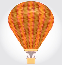 Orange hot air balloon on a white background vector