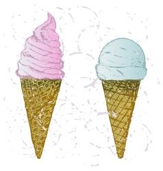 Soft serve ice vector