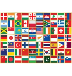 Background with flag icons vector