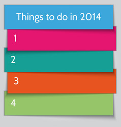 New year resolution list template vector