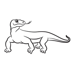 Varan outlined vector
