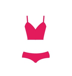 Pink swimsuit isolated vector