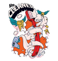 Mr cleaner vector