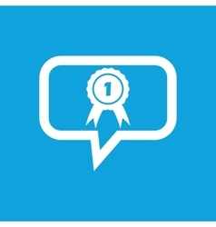 First place award message icon vector