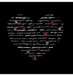 Heart love background vector