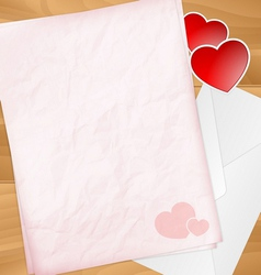 Sweet valentine letter with stickers vector