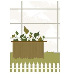Garden leaves background vector