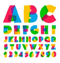 Colorful kids alphabet and numbers vector