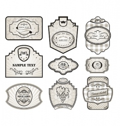 Set retro variation vintage labels vector