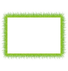 Frame with green grass vector