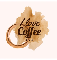 With i love coffee phrase and pour coffee vector