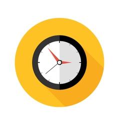 Deadline clock flat circle icon vector