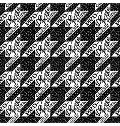 Seamless classic fabric houndstooth pied-de-poule vector