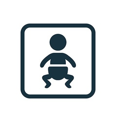 Baby icon rounded squares button vector