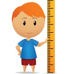 Cartoon man with ruler straightedge vector