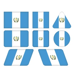 Buttons with flag of guatemala vector