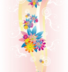 Flower abstract background vector