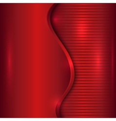 Abstract red background with curve and stripes vector