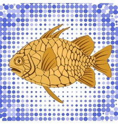 Pinecone fish vector