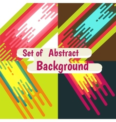 Set of abstract colorful curve background design vector