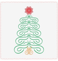 Hand-drawn christmas tree typographic and vector