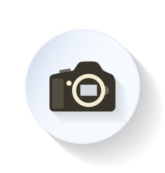 The camera body flat icon vector