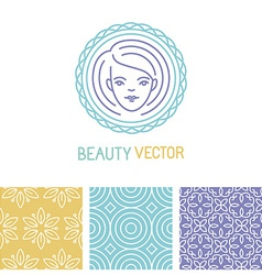 Beauty logo design template vector