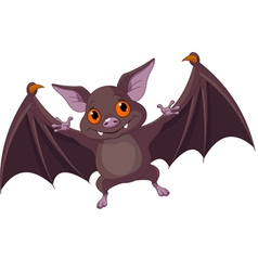 Halloween bat flying vector