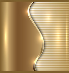 Abstract beige background with curve and stripes vector