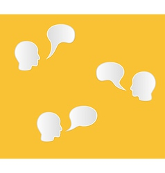 Face and speak bubble vector