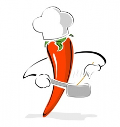 Pepper chef vector