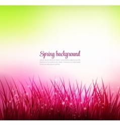 Natural green grass background vector