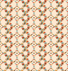Seamless pattern of circles retro palette vector