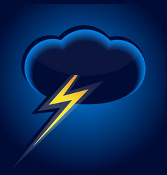 Cloud and lightning vector