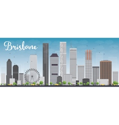 Brisbane skyline with grey building vector