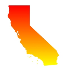 Map of california vector